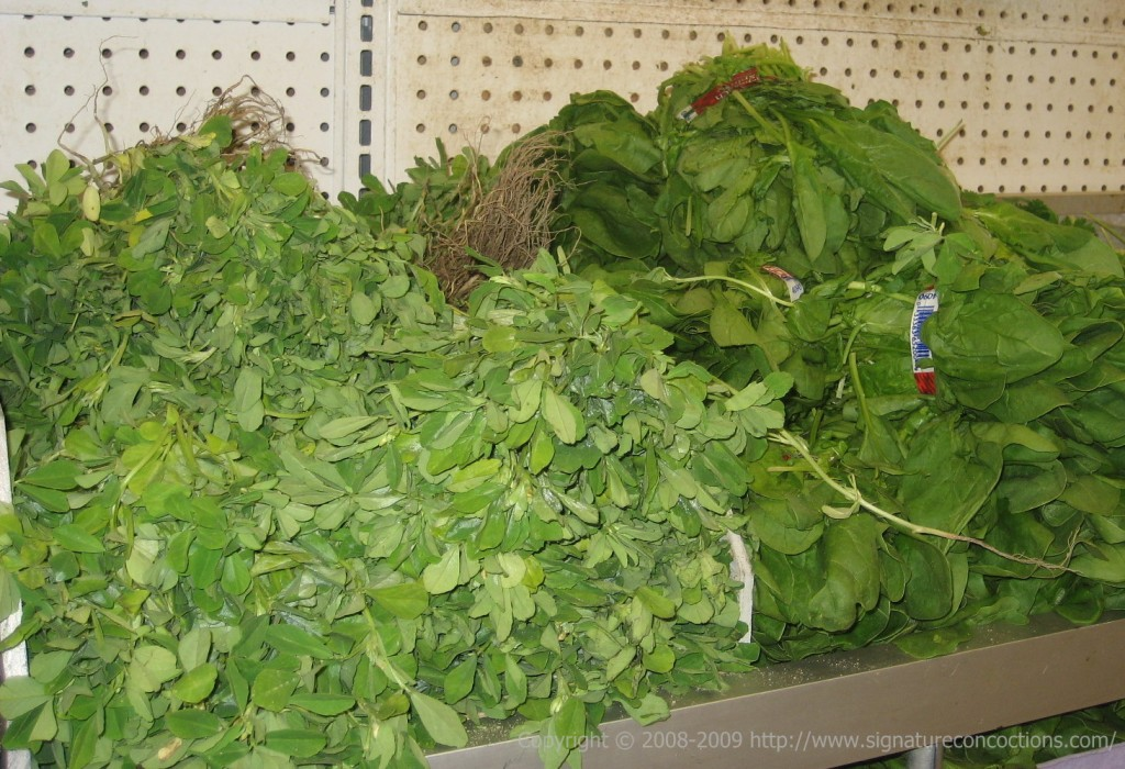 Fresh Methi leaves at Bhavani Cash & Carry, Iselin NJ