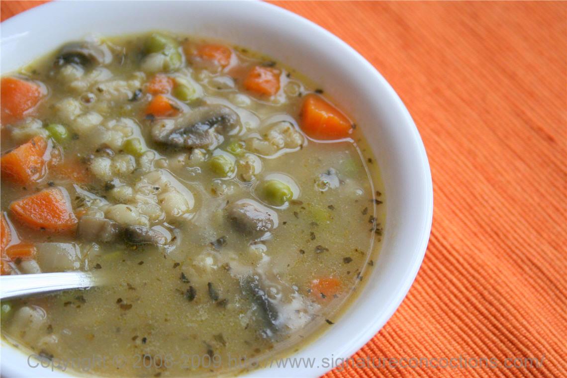 Barley & Mushroom Soup