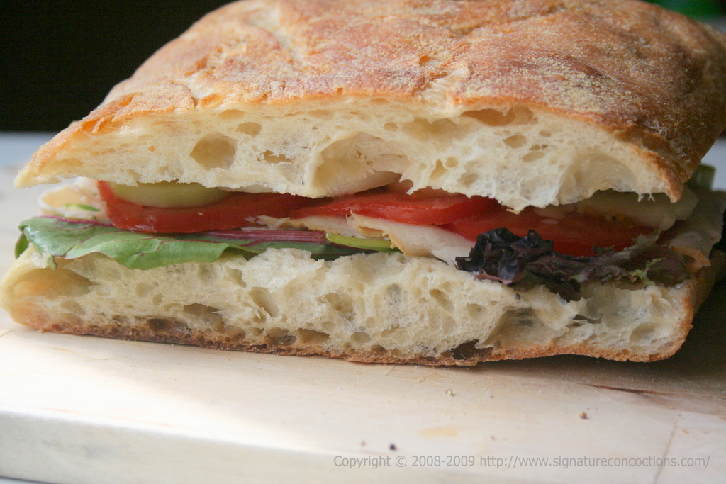 smoked chicken ciabatta