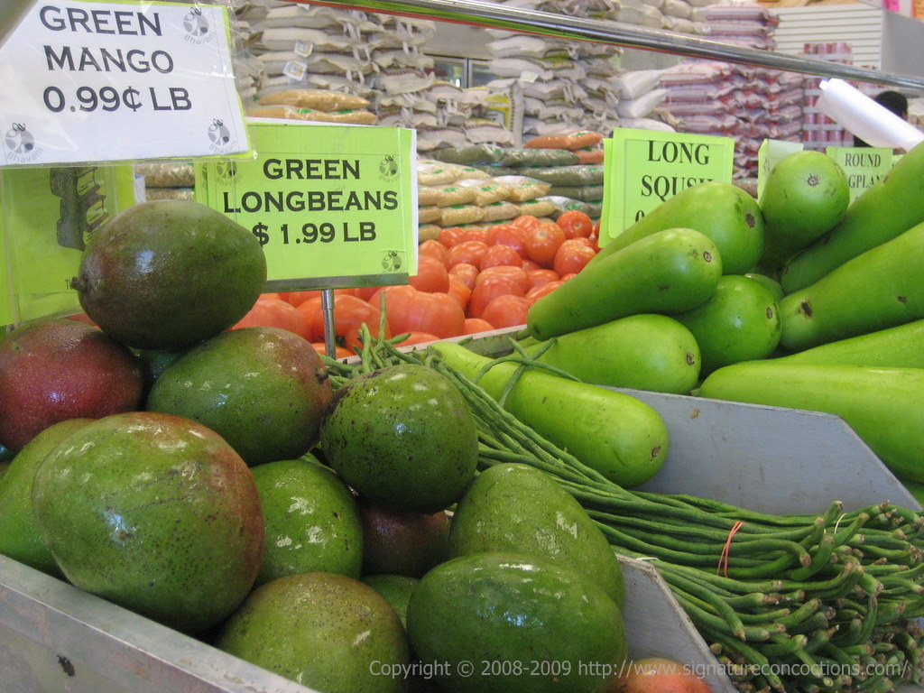 Green Mangoes at Bhavani Cash & Carry, Iselin NJ