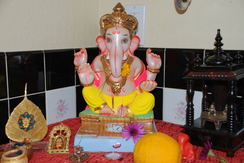 Ganesh Utsav celebrations at Meghana's