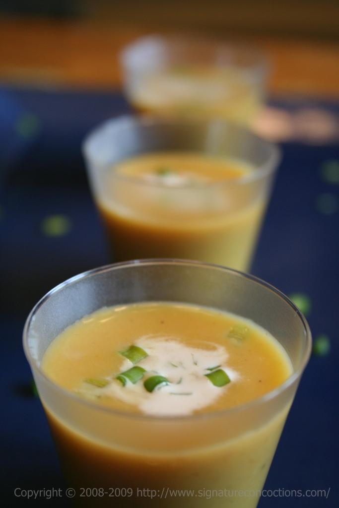 amouse bouche chilled pumpkin soup