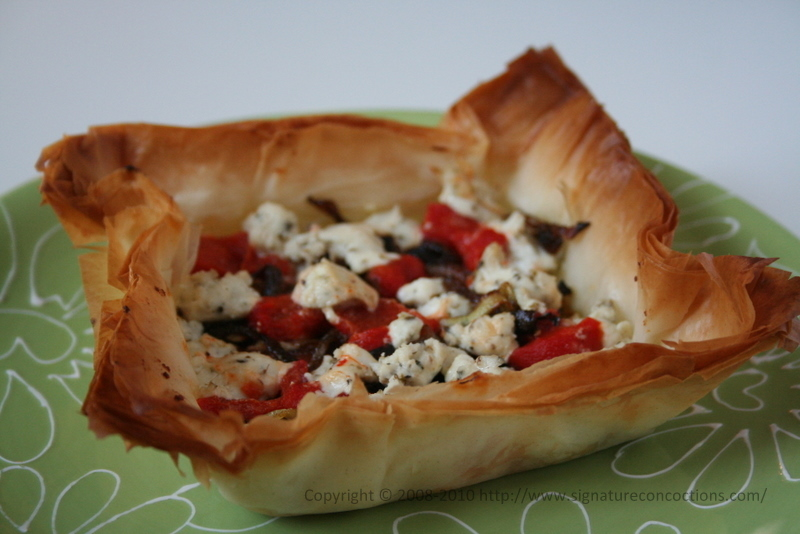 ... Tart with Roasted Red Peppers, Goat Cheese and Caramelized Onions