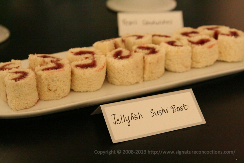 Strawberry Jelly Sushi Roll Sandwiches