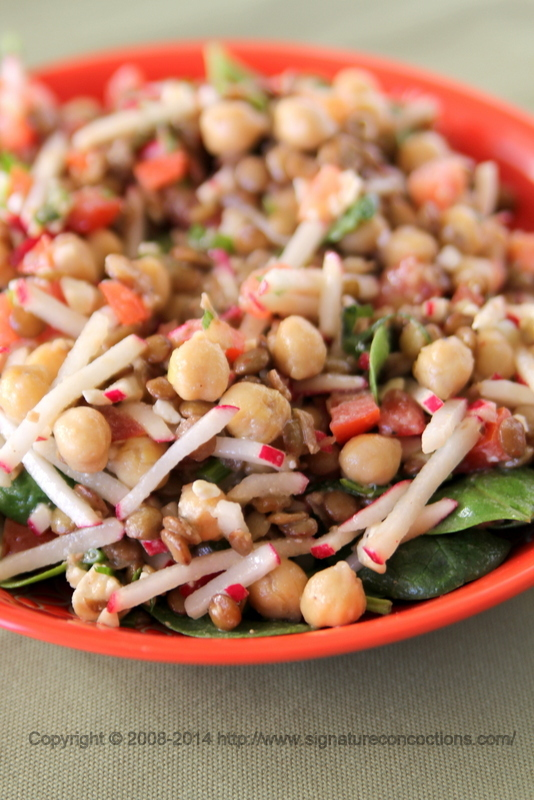 Lentil & Chickpea Salad with Cumin Vinaigrette